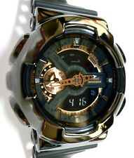 BLING-SHOCK - Custom Casio G-SHOCK GA110 - Black/Black Chrome - NEW