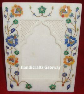 Beautiful Marble Inlay Photo Frame, Decorative Inlay Picture Rectangular Frame