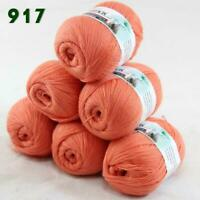 Sale Lot of 6 Skeins x50g LACE Soft Acrylic Wool Cashmere hand knitting Yarn 917