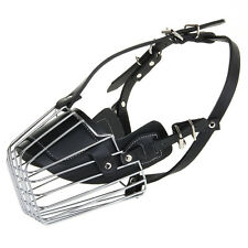Extra Large High Quality Leather Metal Cage Pet Dog Muzzle Cane Corso Great Dane