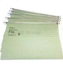 More details for green hanging suspension files tabs insert filing cabinet foolscap or a4 folders
