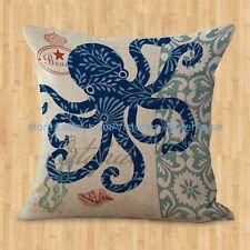 US SELLER- interior decorating jobs marine life sea animal octopus cushion cover