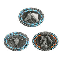 Western Cowboy Rodeo Belt Buckle Mens Womens Bohemian Style Belt Accessory