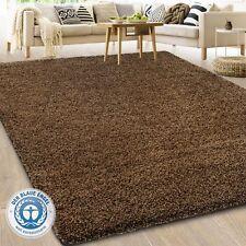 Barcelona Hochflor Shaggy Teppich Langflor Wohnzimmer einfarbig / Rund Teppiche