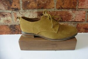 SEASALT OLIVE SUEDE LACE UP CASUAL SHOES SIZE UK 4 / 37