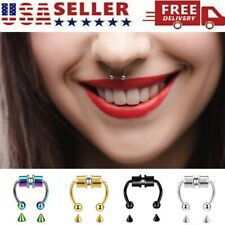 Magnetic Nose Ring Fake Septum Segment Helix Tragus Faux Clicker Non-Piercing Us