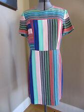 NEW DVF Diane Von Furstenberg Burman Stripe Short Sleeve Sheath Dress Size 10