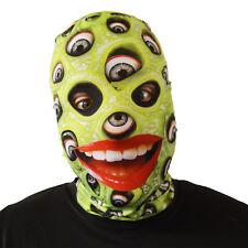 VERDE bulbo oculare Slime Halloween Maschera Costume adulti spaventosa LYCRA