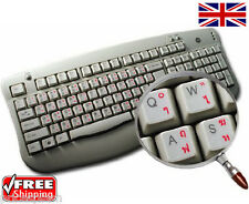 Thai Transparent Keyboard Stickers With Red Letters For Laptop PC Computer