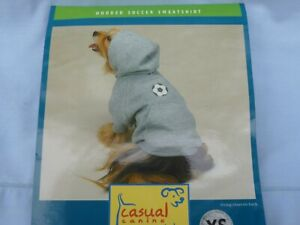 DOG/Pet  HOODED SOCCER SWEATSHIRT  by CASUAL CANINE size Large  NIP gray