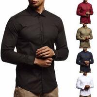 Herrenhemd  Slim Fit Langarm Freizeithemd Tshirt Shirt Oberteile Business H/J