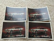 LOT of 4 1980 Chevrolet Monza Spyder Sport 2+2 Postcard ORIGINAL Free Ship