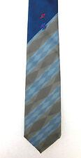 Cravatta VINTAGE Sam Mason limitato a righe con motivo a diamante Lavabile circa 1970s