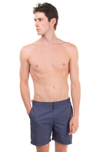 RRP €300 ORLEBAR BROWN Swim Shorts Size 32 Striped Zip Fly Made in Portugal