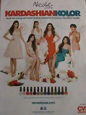 The Kardashians, Nicole By OPI Nail Polish, Full Page Ad, Kyle Kendall Jenner
