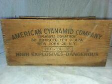 (DANGER- HIGH EXPLOSIVES) WOOD BOX AMERICAN CYANAMID COMPANY