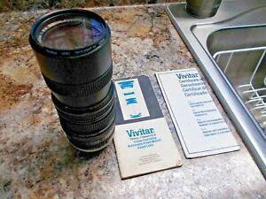 Vivitar Close Focusing 70mm-150mm f3.8 Zoom 52mm Lens + Soligor 2X Teleconverter