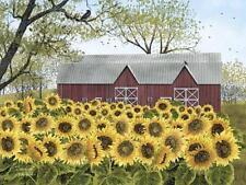 Billy Jacobs Sunshine Sunflower Country Art Print 24 x 18