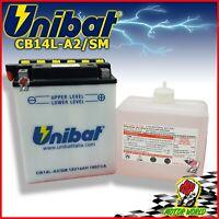 Batería UNIBAT CB14L-A2-14AH + Ácido Suzuki GSX 750 Eg Silver Suzi 1980