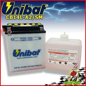 Batterie UNIBAT CB14L-A2 - 14AH + Acide Norton Commando 75 850