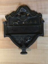 ANTIQUE VINTAGE USA BRASS DOOR KNOCKER NAME PLATE PART