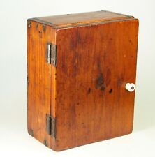 """~ Antique 19th C. Small Cabinet Multi-functional Pine Box  10"""" x 8"""" x 5"""""""