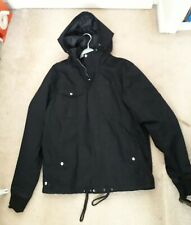 Men's Black Fenchurch Hooded Cotton Zip-Up Jacket - Size Large