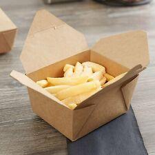 Takeaway No 1 Brown Food Boxes Biodegradable Kraft Leak-Proof 26oz [50 - 450pcs]