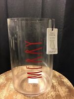 "Rae Dunn ""Merry"" Candle Holder / Vase Pottery Artisan Collection"