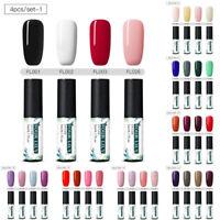 FOUR LILY 4Pcs Set/Kit Soak Off UV/LED Gel Nail Art Polish Varnish Manicure Tips