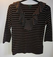 womens ladies top ralph lauren jumper casual formal stripy