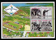 Aland Finland 1991 Island games. Very fine S/S. Facit Bl1.  MNH