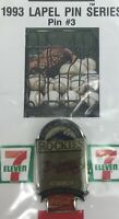 Baseball 1993 Souvenir Lapel Hat Pin #3 Colorado-Rockies Series