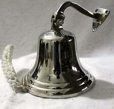 More details for chrome /nickle wall mounted/last order bell hanging door/ship/pub bell 4