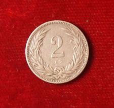 Münze Coin Ungarn Hungary Zwei 2 Filler 1901 Bronze (G6)