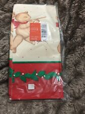 "Hallmark Vintage Table Cover Paper Teddy Bear Christmas 54"" x 102"" New Vintage"