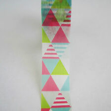 10m roll 15mm mt 80s bright neon triangles washi masking tape pink green blue