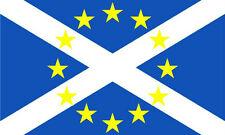 Scotland EU Flag 5 x 3 FT - 100% Polyester - New Yes Scottish In European Union
