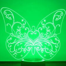 Floral Heart Butterfly LED Acrylic Light