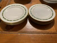 "Five Franciscan China 6-1/4"" Bread Plates    Arcadia Green     Great Shape"