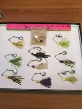 LOT OF 10 H & H Spinner Baits Vintage Fishing Lures TOURNAMENT FISHERMAN BOX