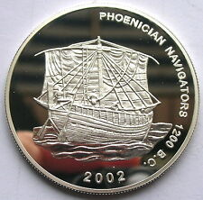 Ghana 2002 Phoenigian Navigators 500 Sika Silver Coin,Proof