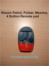 Nissan Patrol, Pulsar, Maxima, Pathfind 4 Button Replacement Remote pad