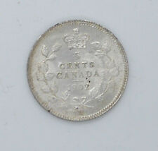 1902 Canadian silver coin 5 cents MS-63 condition Big H