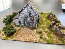 28mm, Painted Terrain, Barn, AWI-ACW, Black powder, (B)