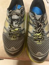 Hoka Conquest 2 Grey Neon Green Mens Running Shoes Size 9.5