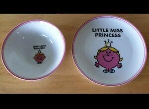 LITTLE MISS PRINCESS CERAMIC BOWL & PLATE ~ MR MEN