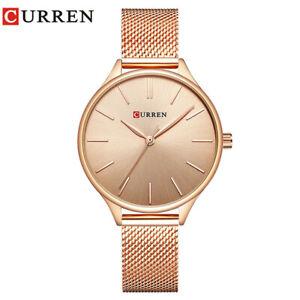 CURREN Women Quartz Watches Luxury Gold Watch for Ladies Girls Business Watches
