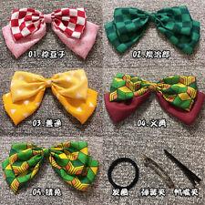 Demon Slayer Kamado Nezuko Kamado Tanjirou Chiffon Hair Clip Headwear Gift N