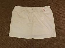 NEW NOS Snow White Stretch Denim Skorts Classic Fit Skirt Shorts Plus Size 24W